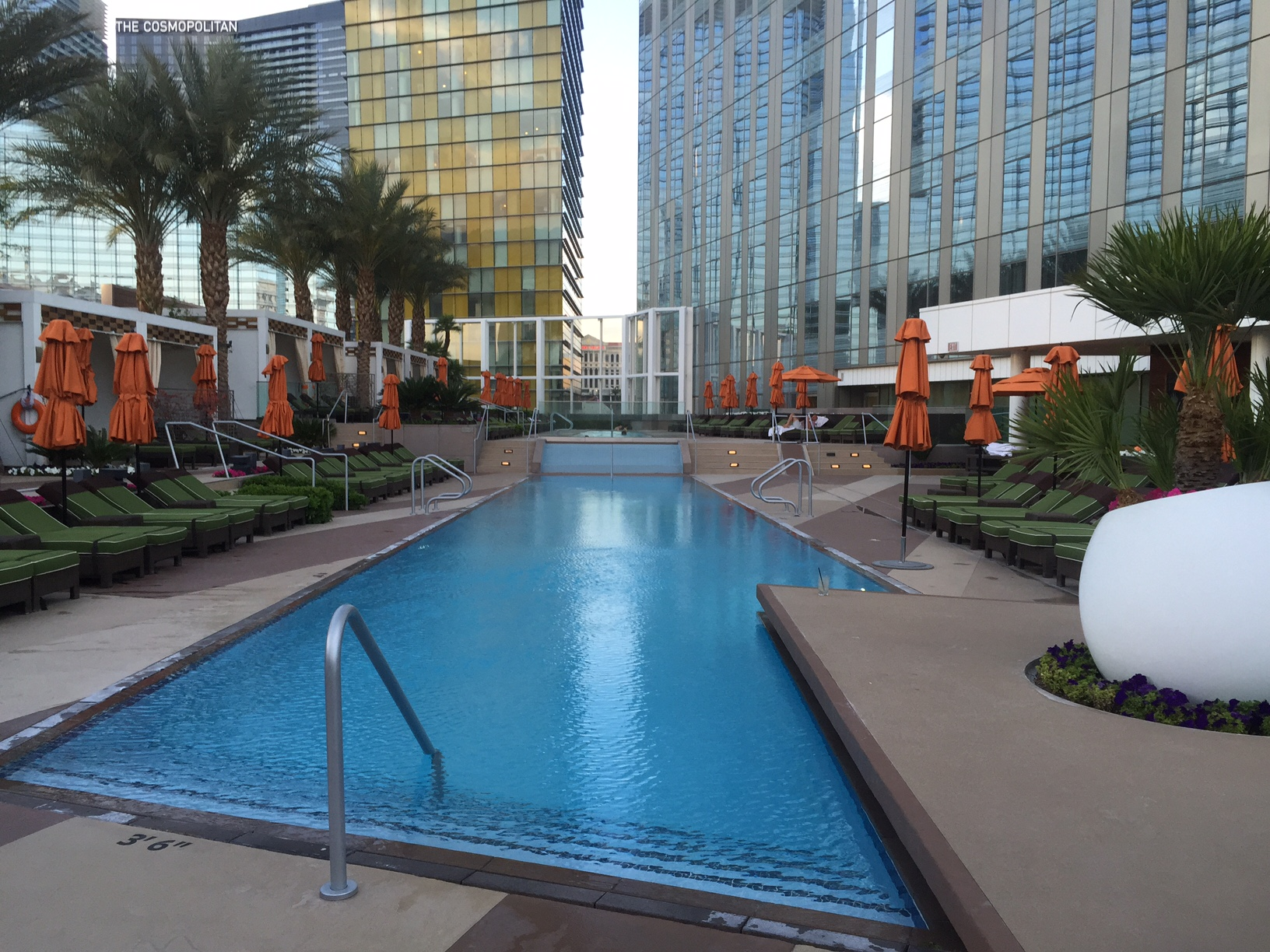 The Mandarin Oriental residence pool