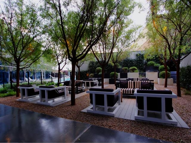 The Outdoor Patio Area at THE MARTIN CONDOS in Las Vegas near the Strip