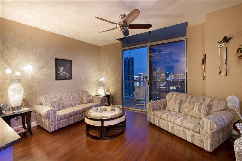 Allure Strip View Condo Living Room