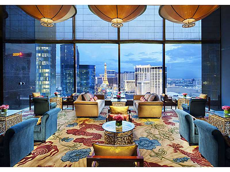 Tea Lounge at The madarin riental Residences Las Vegas