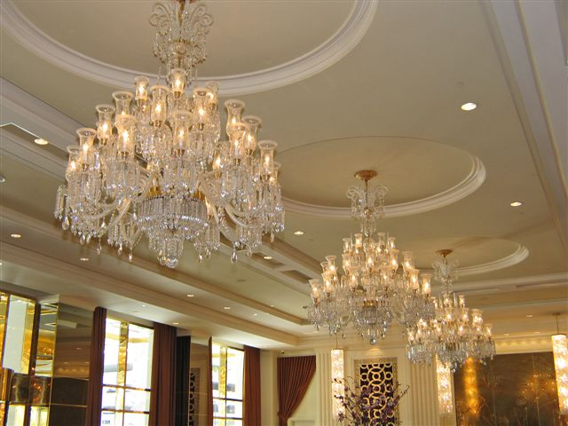 Crystal Chandeliers in Trump Towers Las Vegas