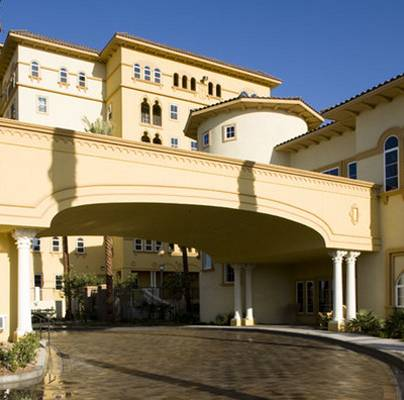 Porte Cochere at Boca Raton Condos in Las Vegas